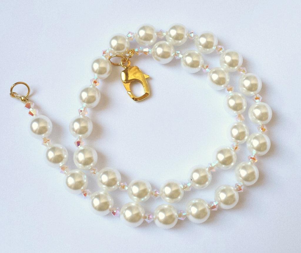 Collana con Perle di Boemia e Cristalli Swarovski