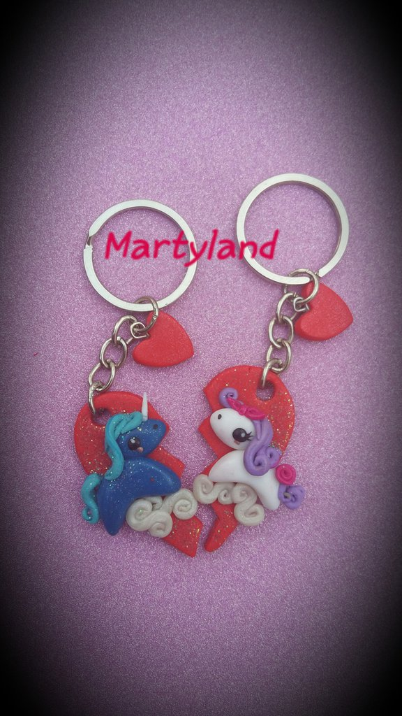 Portachiavi cavalli innamorati