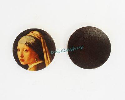 Medaglione ciondolo  in legno 35 mm 1pz