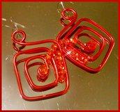 """"""" Wire """" earrings"""