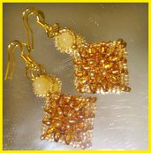 """ Yellow "" earrings"