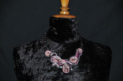 Girocollo soutache  sfumature rosa
