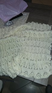 Copertina lana neonato per carrozzina porta enfant