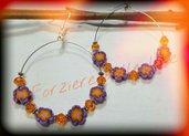 Orecchini fiori arancioni