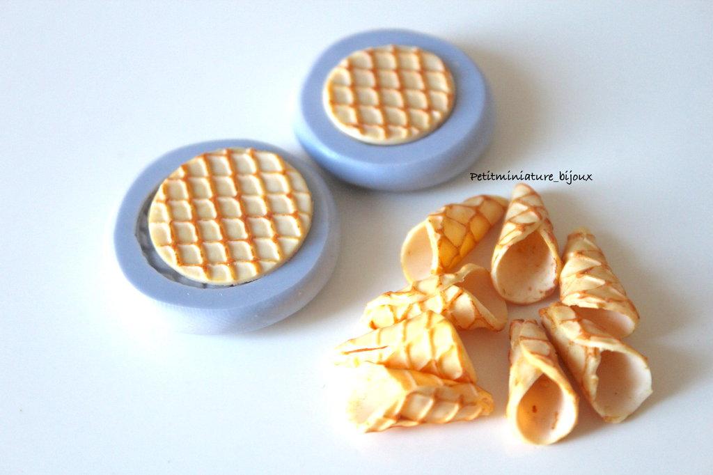 Stampo Silicone Flessibile cono gelato,Miniature cibo,gioielli,charms,gelato,fimo,polymer clay,resina,sapone,dolce ST308