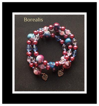 Bracciale Armonico Ceramica e Perle di Boemia