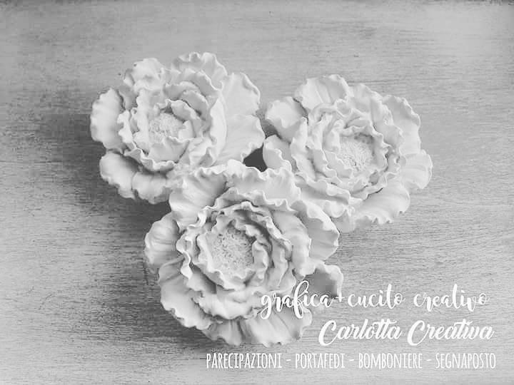 Gessetti fiore Peonia perfetti come Segnaposto Bomboniera Decorazione