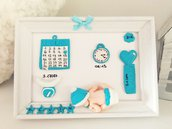 Quadretto nascita personalizzato 10x15