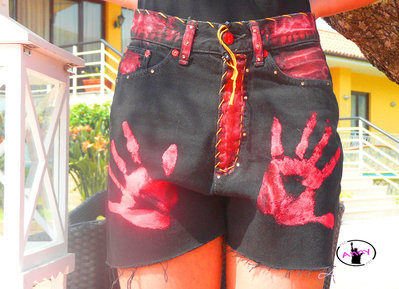 Pantaloncino jeans corto