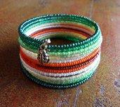 Bracciale rigido colorato, bracciale armonico, bracciale di perline, bracciale boho chic, bracciale multi giri