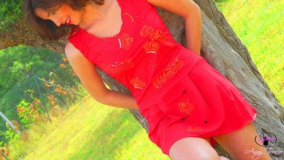vestito sexy rosso