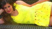 vestito sexy giallo