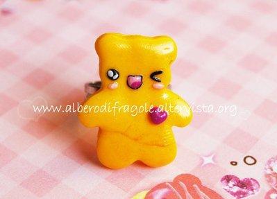 Anello orsetto giallo