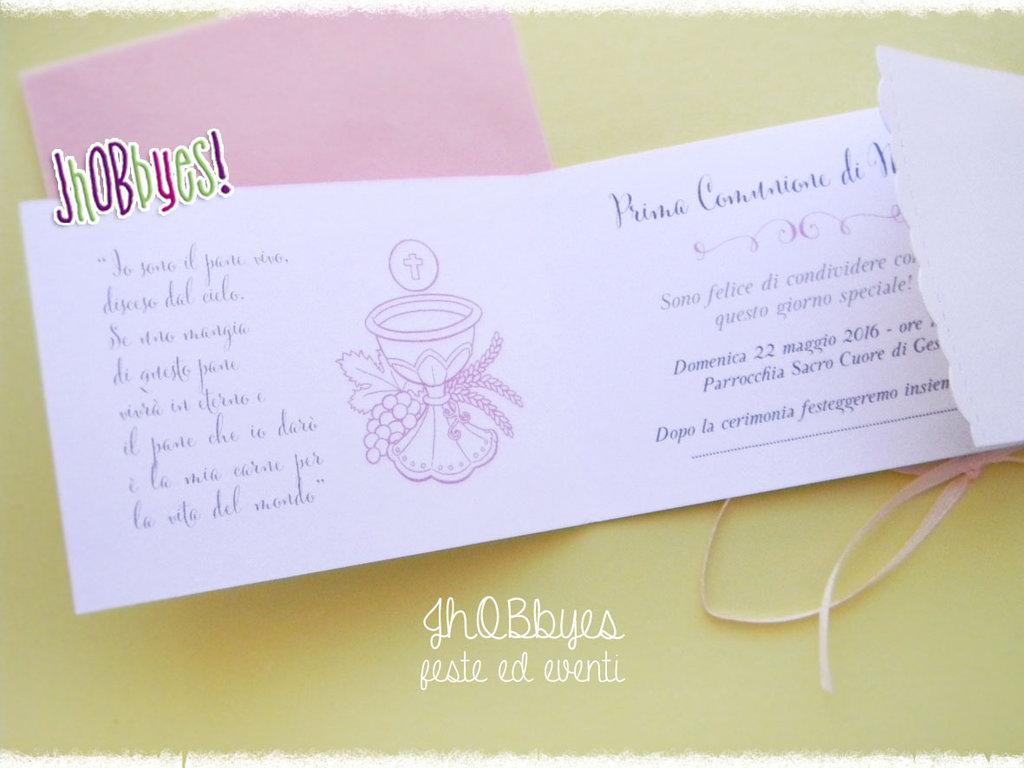 Favoloso Invito Prima Comunione - Feste - Biglietti e inviti - di Jhobbyes  MR23