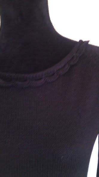 maglia donna nera traforata