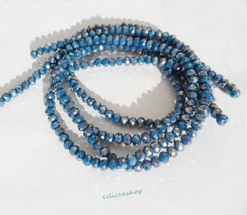 cipollotti rondelle abaco sfaccettati color Blu cobalto  73 pz