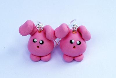 Orecchini Conilli rosa