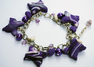 Braccialetto Farfalle viola