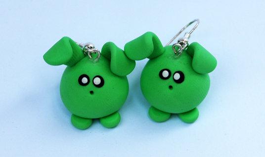 Orecchini Conilli verdi
