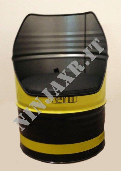 Poltrona Fusto Barile Olio Industriale Eni Riciclo Creativo Arredo Design Riuso Idea Regalo