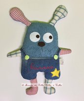 monster doudou con salopette
