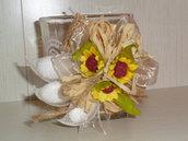 bicchiere portacandela bomboniera utile artigianale personalizzabile con confetti
