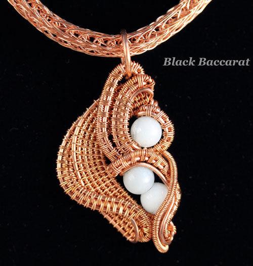 Collana in Rame e Amazzonite con catena in Viking Knit