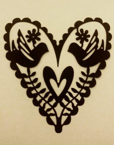 fustellati a forma di cuore per scrapbooking e partecipazioni
