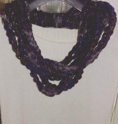 Sciarpa collana  scaldacollo handmade scarf regalo donna