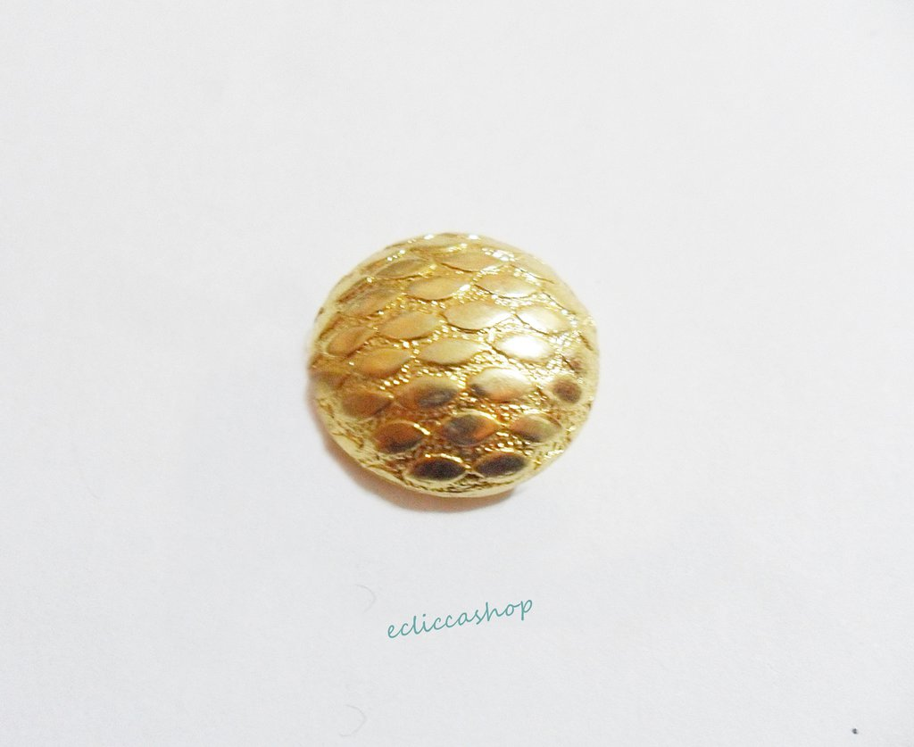 Perlina  distanziatrice rotonda bombata argento indiano 1 pz