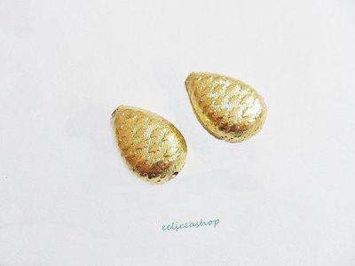 Perlina Distanziatore a goccia bombata satinata in argento indiano 20 x 15 mm 1 Pz