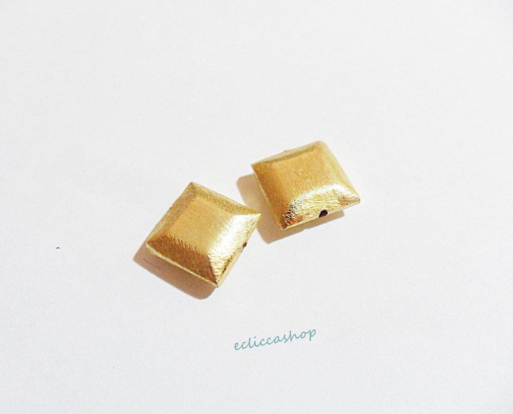 Perlina distanziatore argento indiano 12 x 12 mm