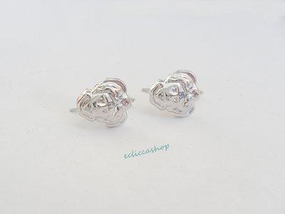 """Base orecchini in Ottone """"Testa di medusa"""" colore argento 1 coppia"""