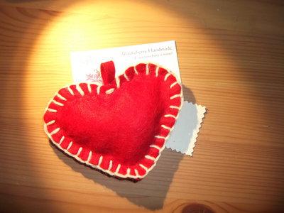 Cuore grande in feltro rosso - San Valentino