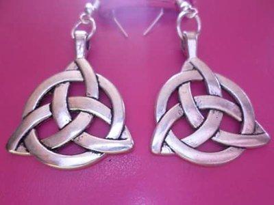 argento tibetano orecchini nodo celtico