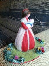 Maternità in lana cardata