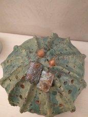 Orecchini  pasta di turchese e pietre caramello