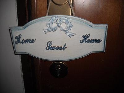 Targa fuori porta home sweet home in stile shabby
