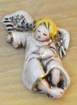 Piccoli angeli da parete in terracotta di cm 6 ca realizzati a mano