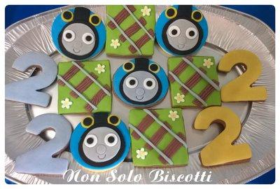 Biscotti decorati Trenino Thomas