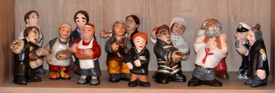 Statuine dei mestieri di h. 16 ca. prodotto artigianale