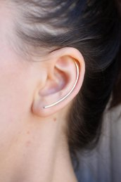 Orecchini Minimal Ear Cuff, Orecchini a Arco, Orecchini Lungo L'orecchio