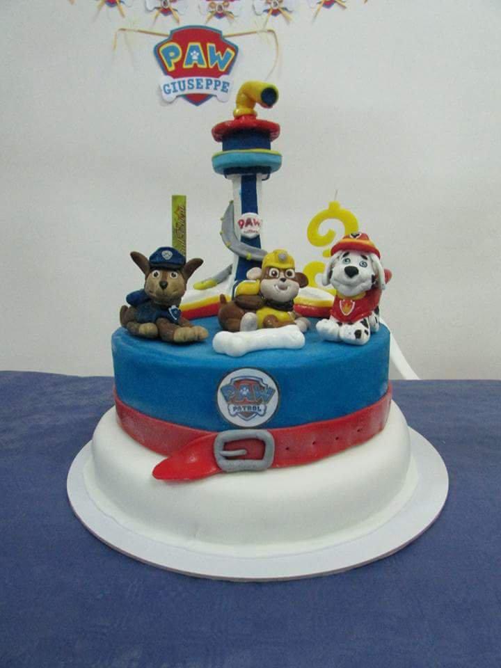 Cake topper paw patrol per compleanno bimbi