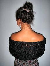 elegante collo scialle nero
