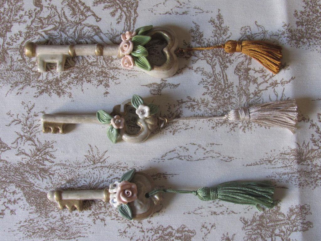 Chiavi in porcellana fredda stile capodimonte