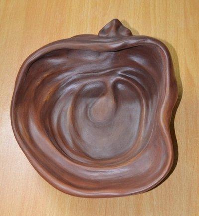 Scultura testa n. 2 terracotta patinata 9 x 22 cm ca.pezzo unico