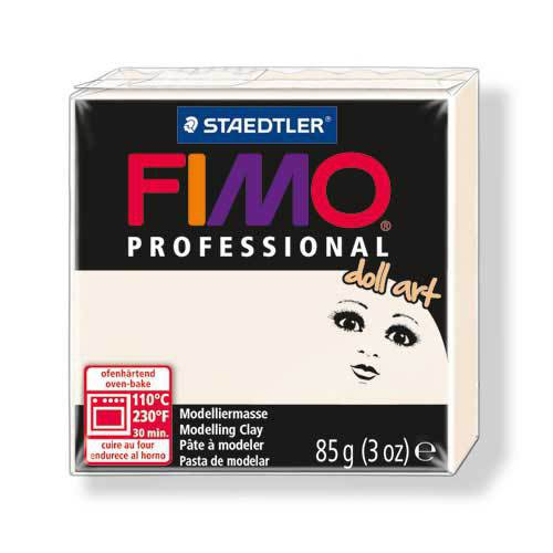 OFFERTISSIMA! 1 panetto FIMO PROFESSIONAL DOLL ART color PORCELLANA n° 3 (85 gr)