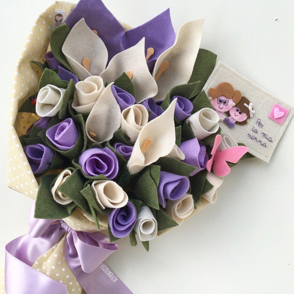 Bouquet con biglietto personalizzato