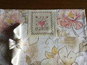 Coppia di tovagliette americane patchwork con ricamo