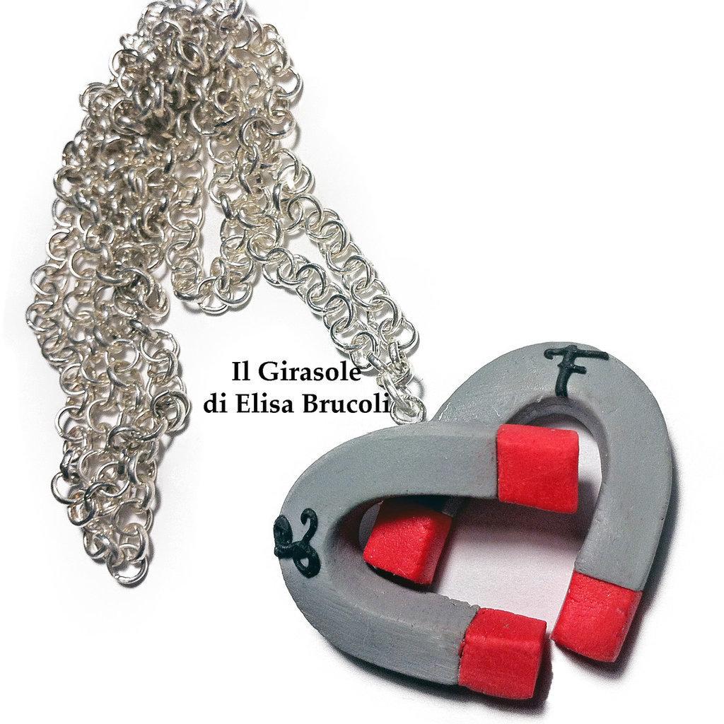 INSERZIONE RISERVATA: portachiavi con calamite a cuore e iniziali L e F
